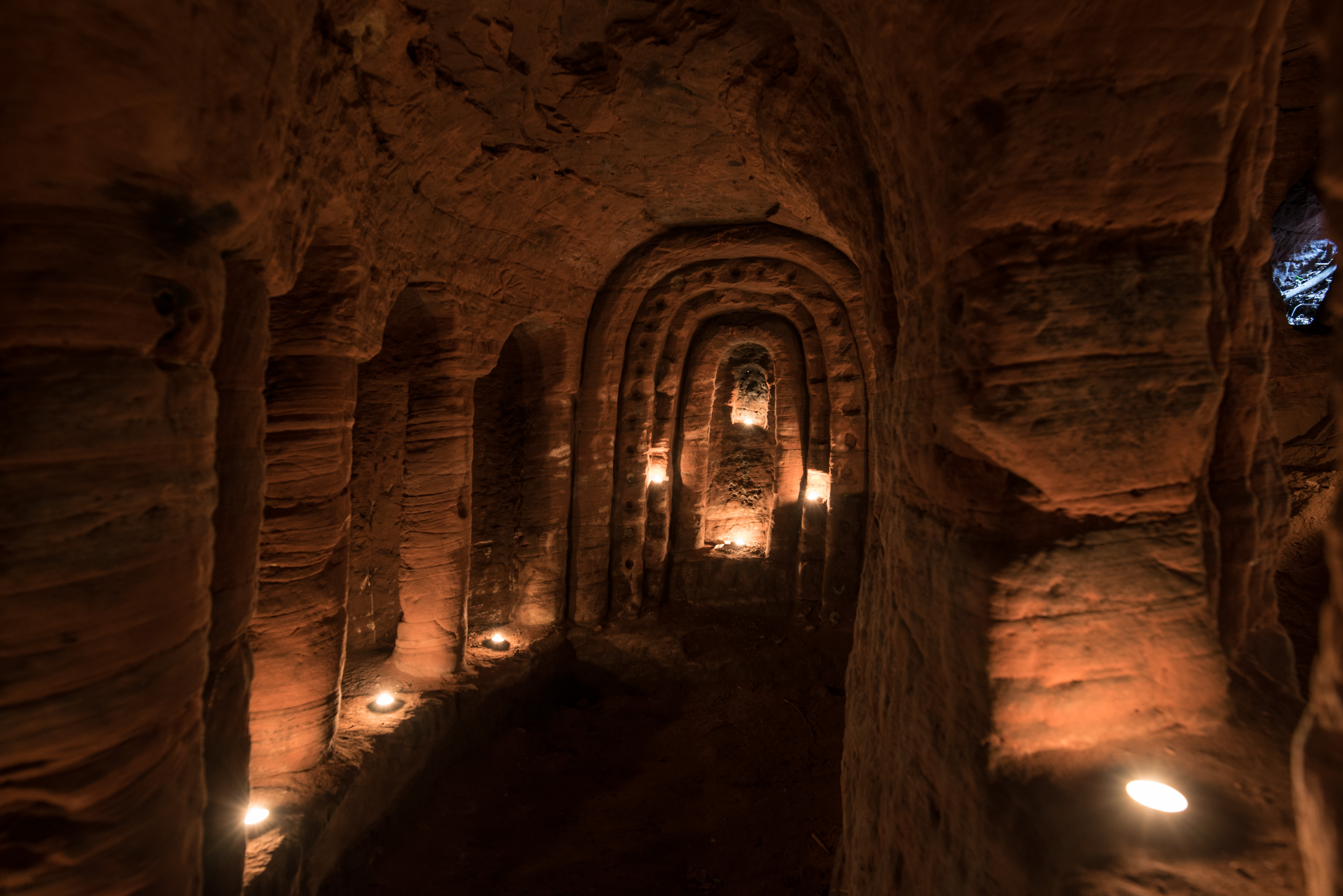 Rabbit hole leads to secret knights templar cave