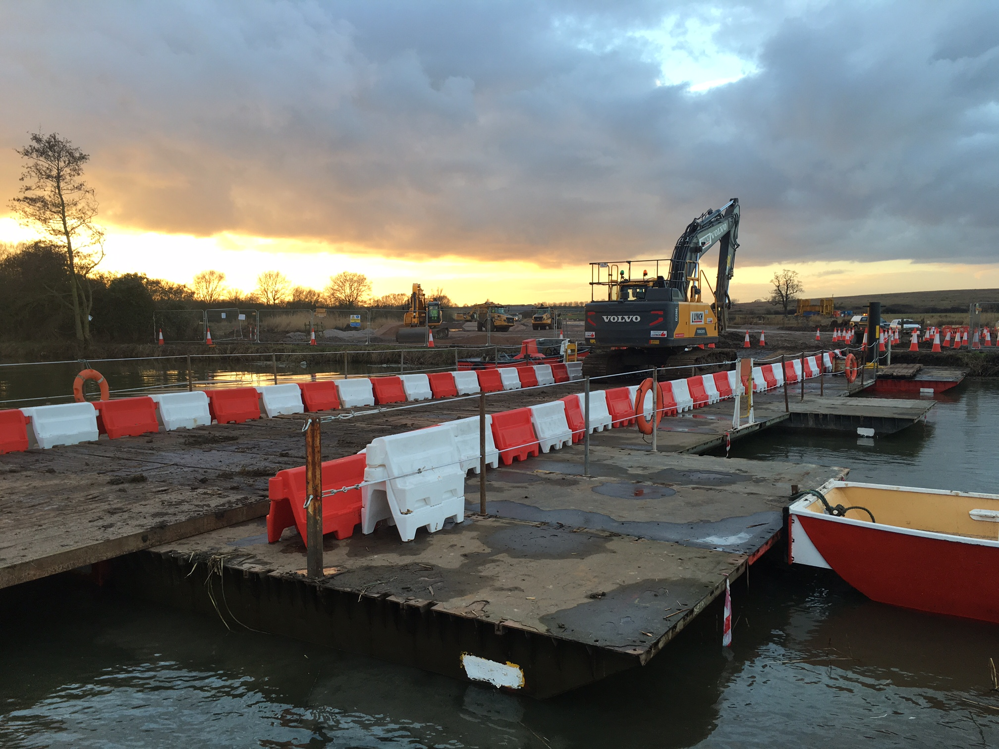 A14 pontoon works. March 2017