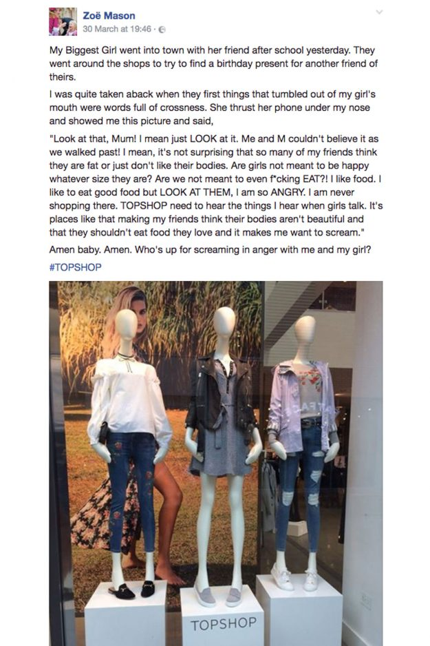 People Are FURIOUS With This 'Fat Shaming' Topshop