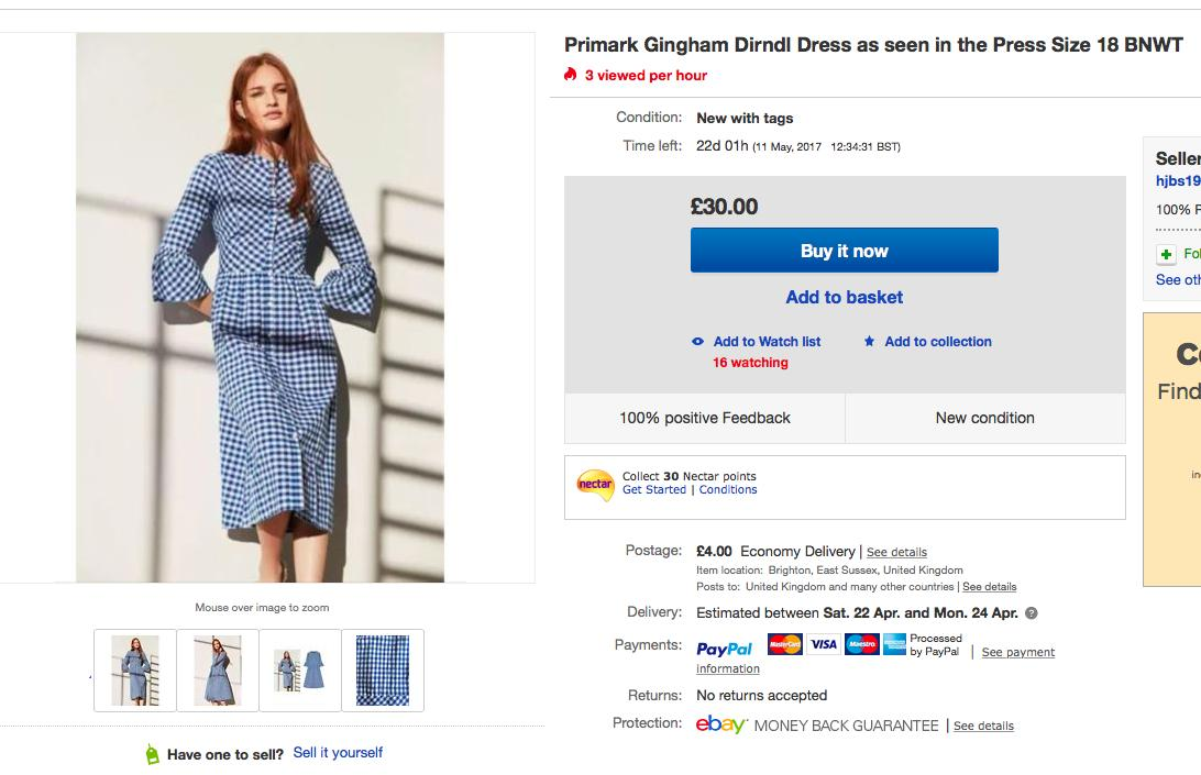 Primark Dress on eBay