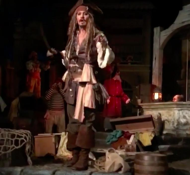 Johnny Depp Pirates Of The Caribbean Ride