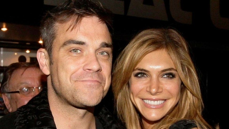 Robbie Williams and wife