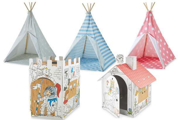 Aldi children's playhouses and teepees