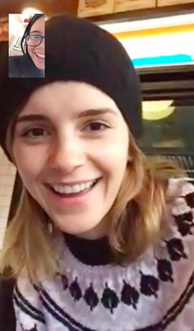 Emma Watson surprises fan with FaceTime offering e