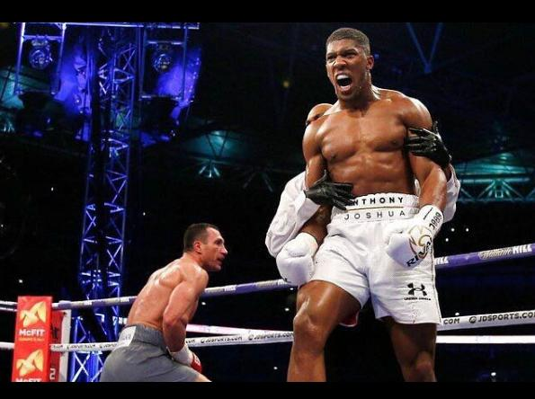Anthony Joshua and mum