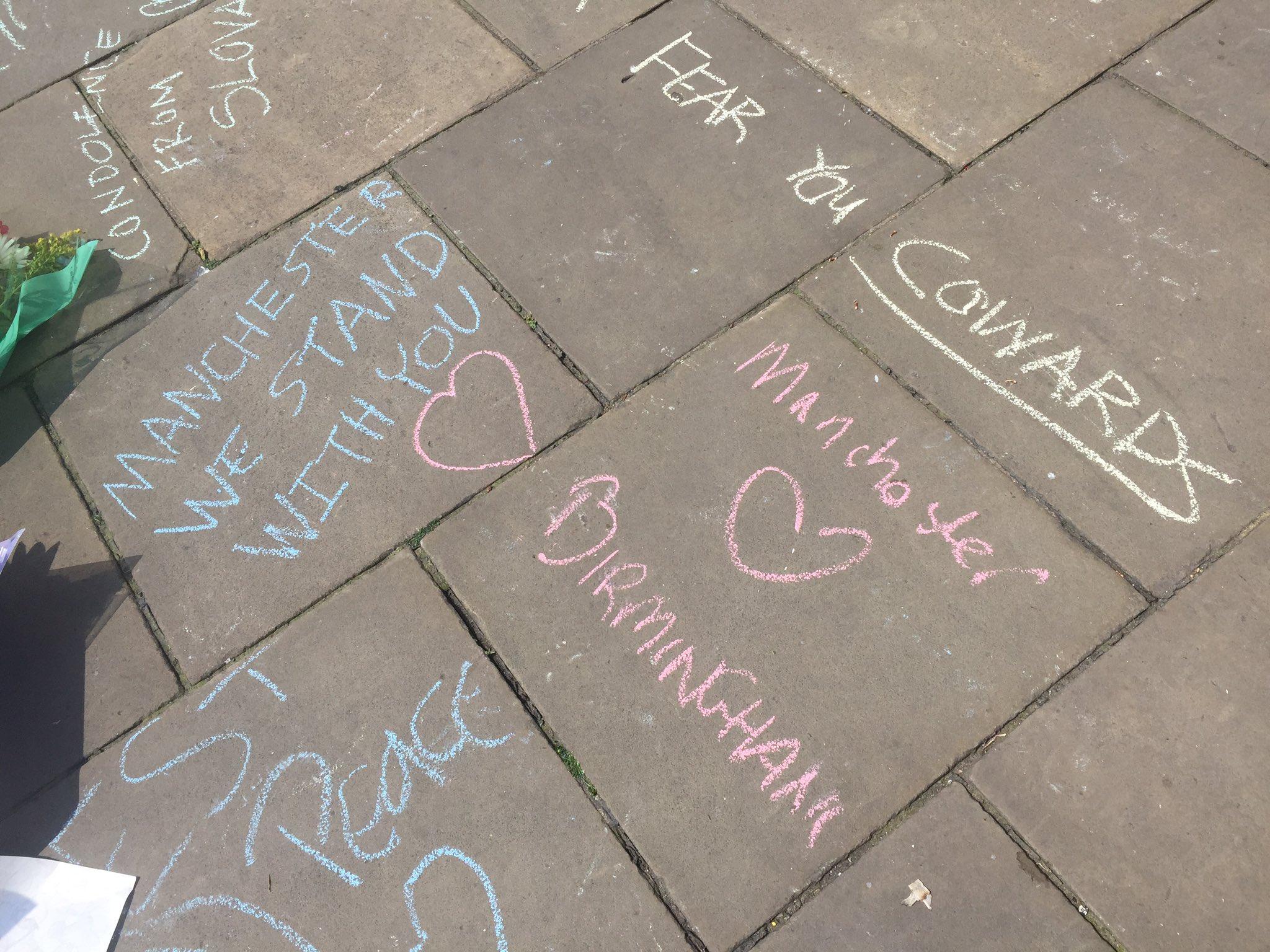 Birmingham Manchester vigil
