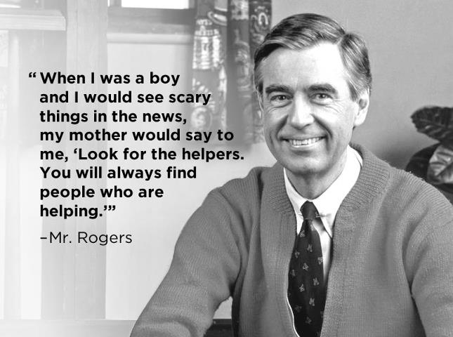 Fred Rogers look for the helpers