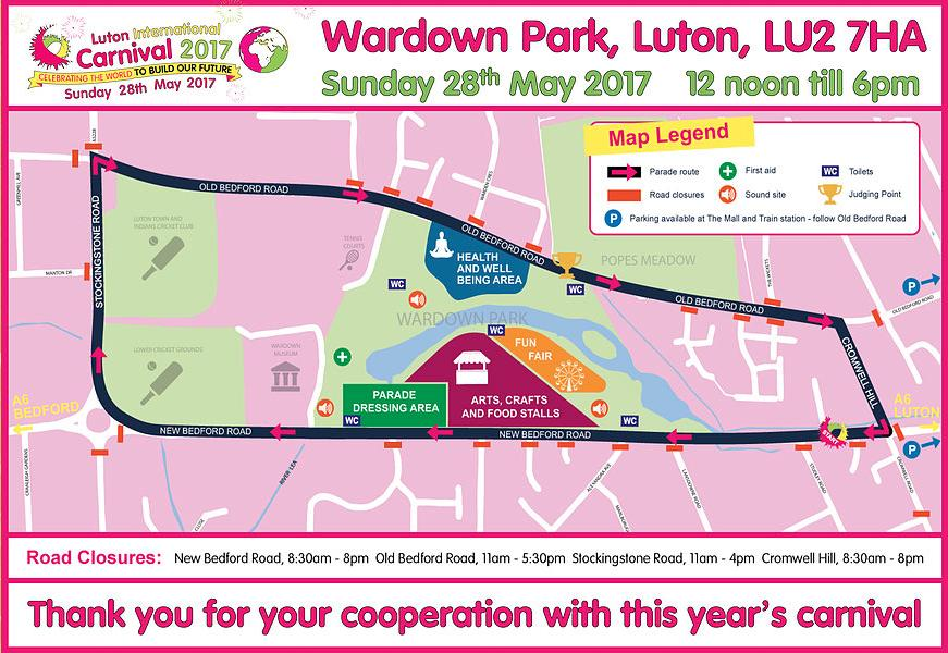 luton carnival route 2017