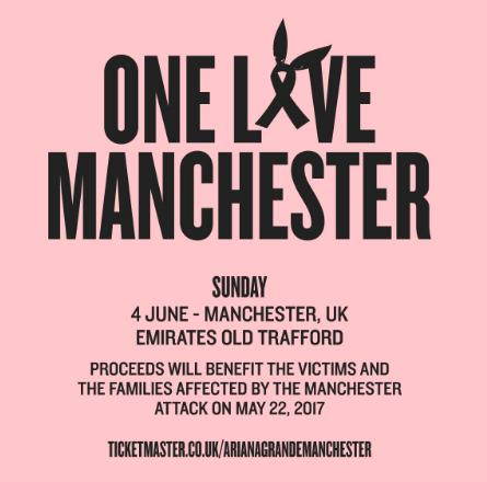 Ariana Grande One Love Manchester Flyer