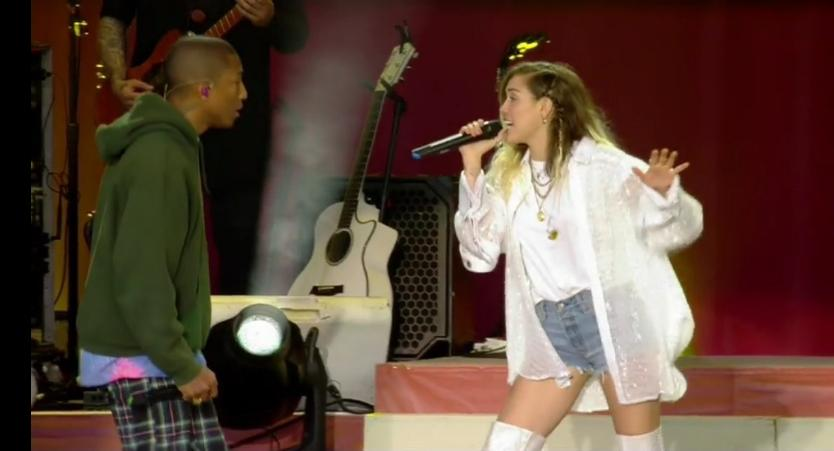 Pharrell x Miley Cyrus One Love Manchester