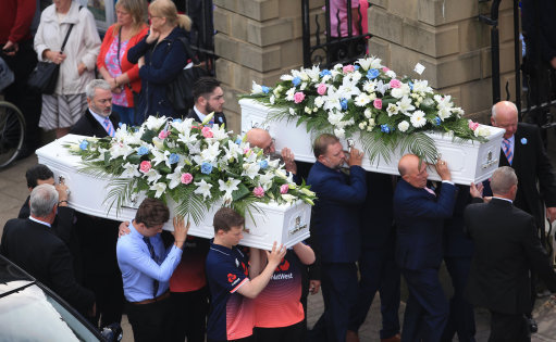 Liam Curry and Chloe Rutherford Funeral