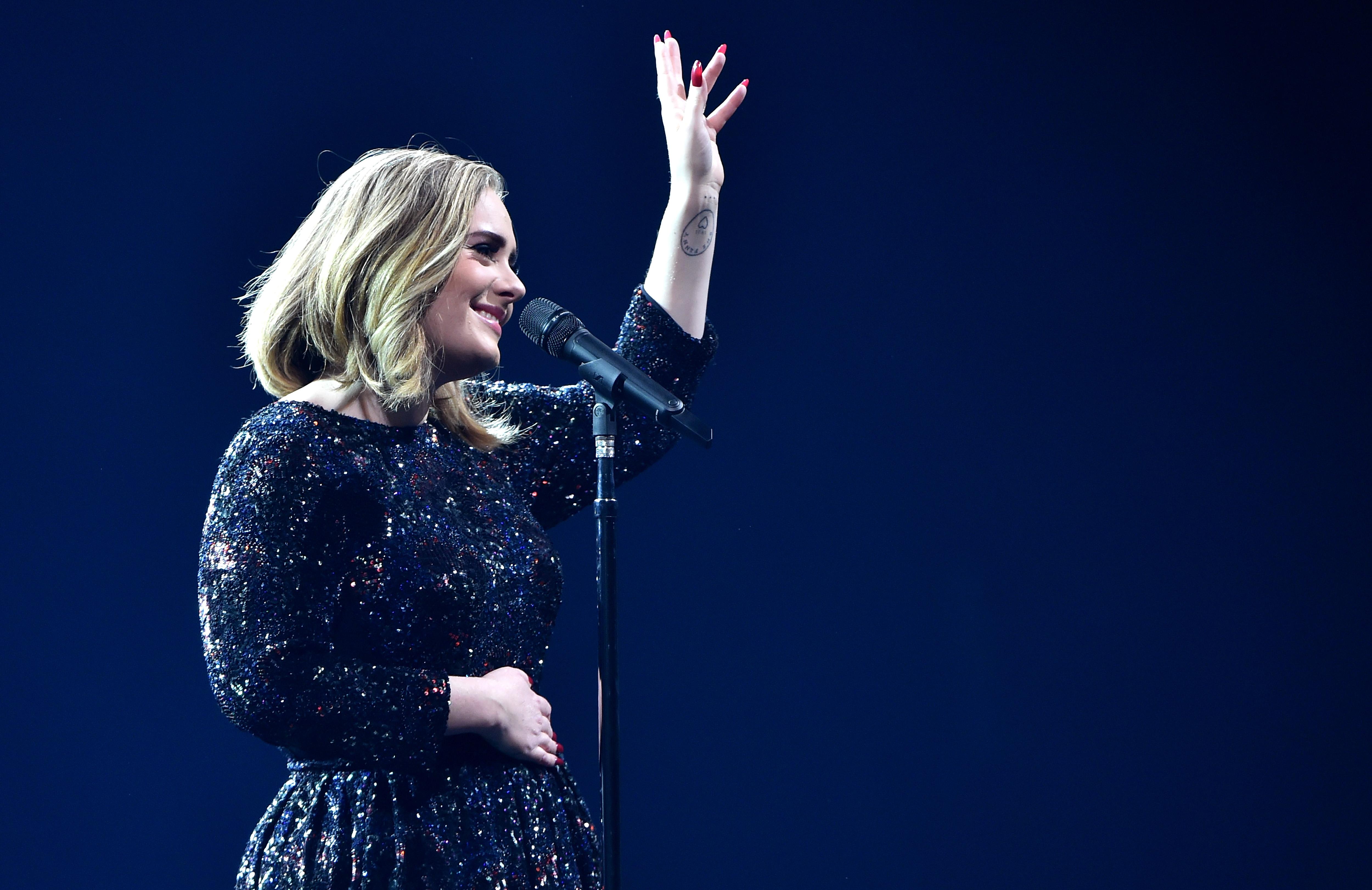 Adele live at the O2