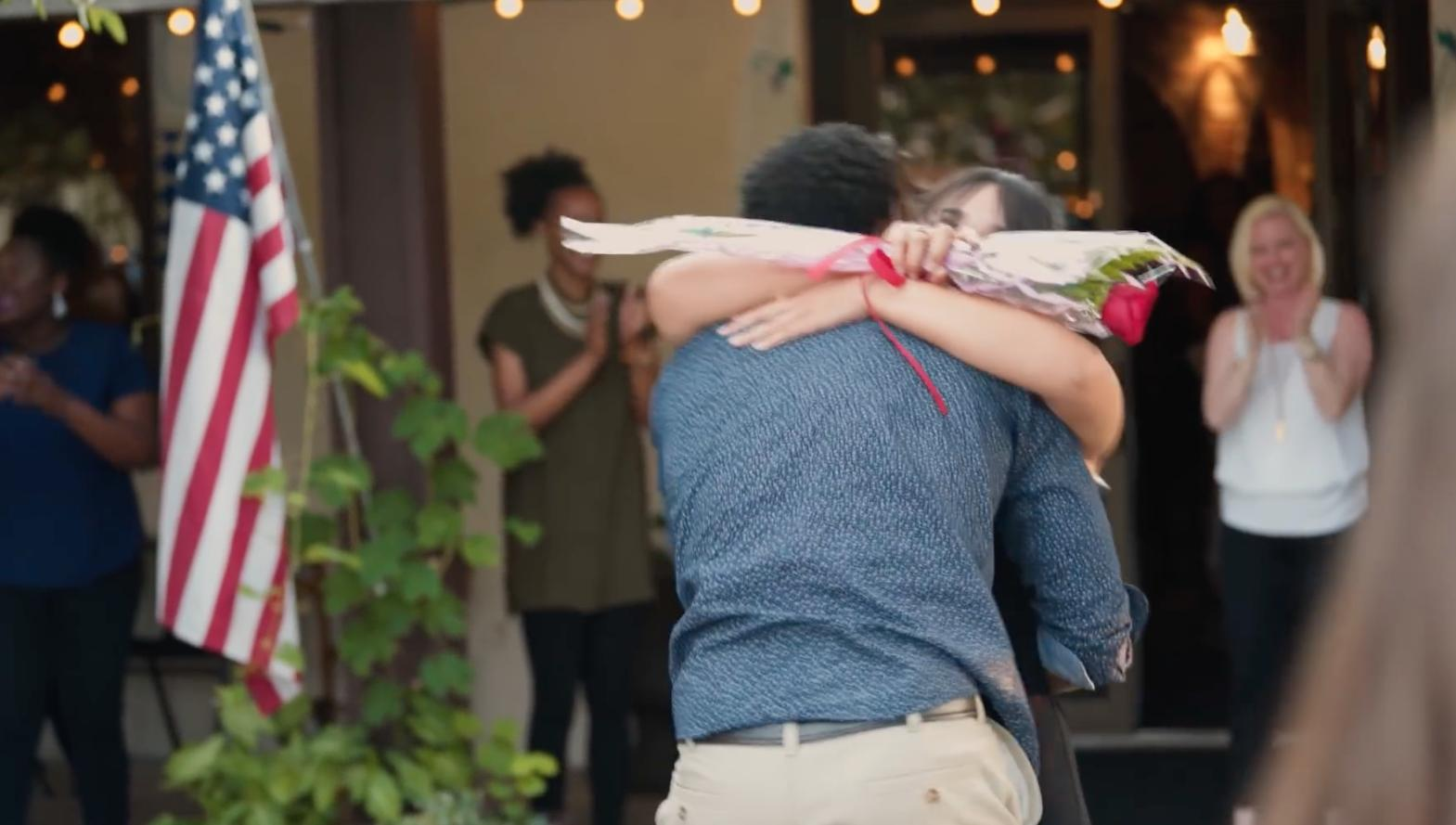 WATCH: Entire Restaurant Help Man Propose With An