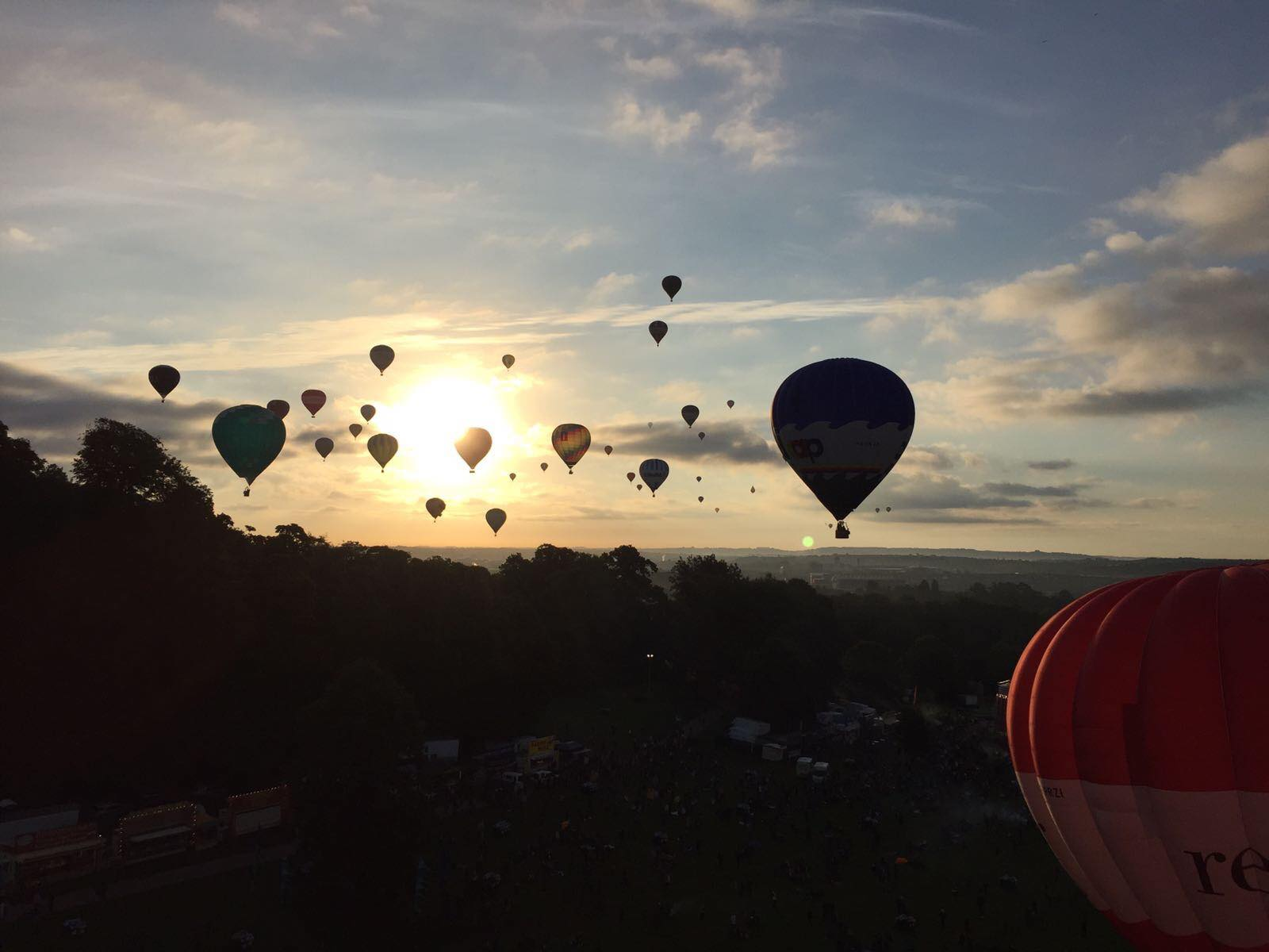 Ballons in the morning