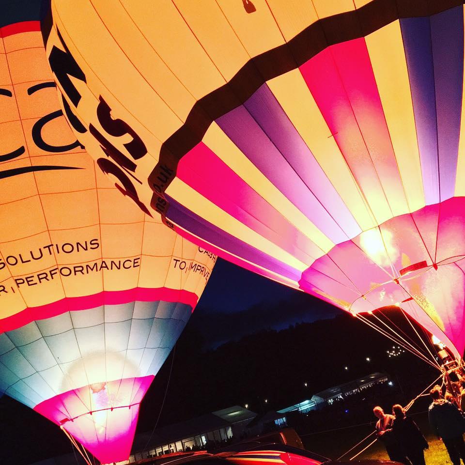 Balloons at night