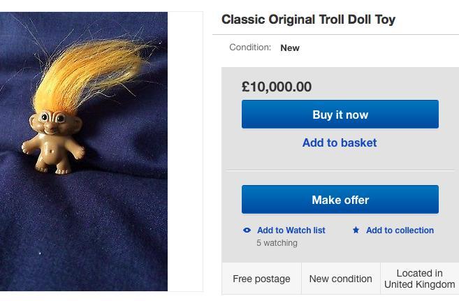 Troll doll eBay