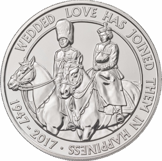 Queen and Prince Philip 2017 coin