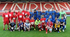 Wiltshire Charity Football Match Team Shot