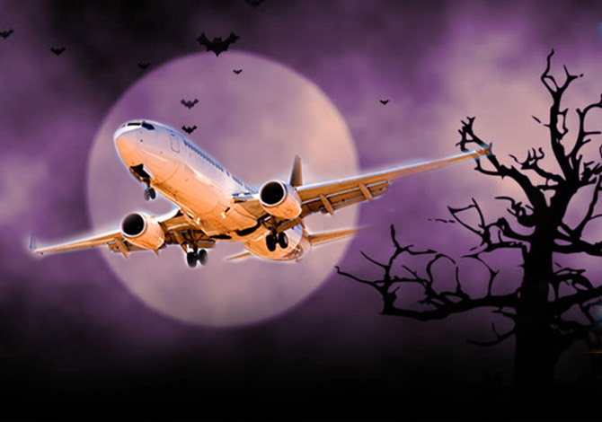 spooky plane