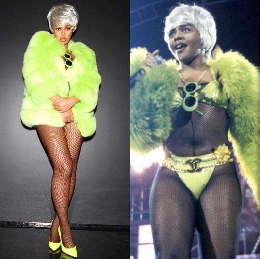 beyonce pays homage to lil kim