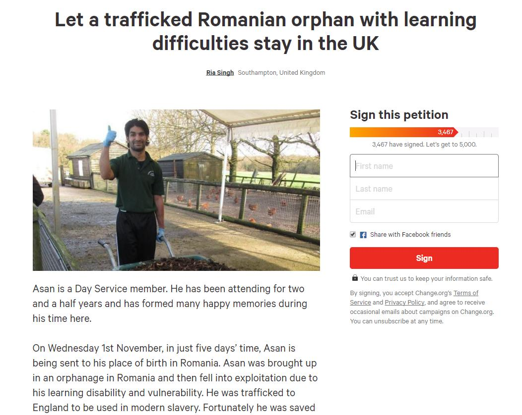 Thousands of people have signed a petition