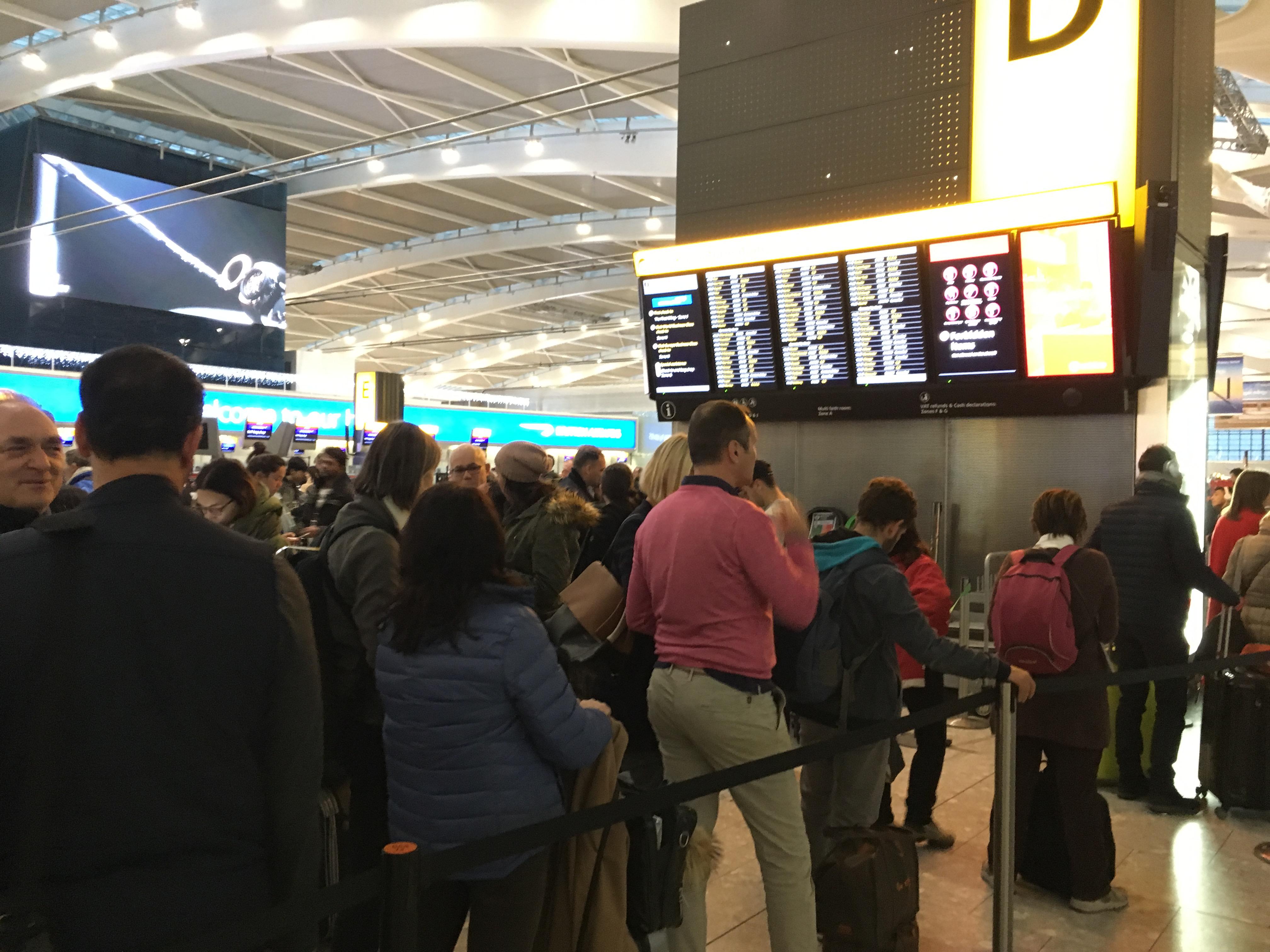 Delays at Heathrow