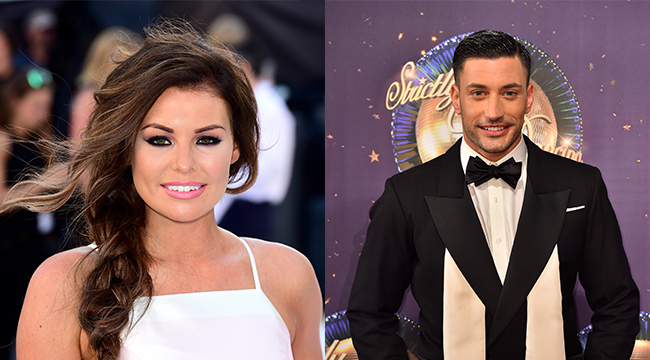 Jess Wright and Giovanni Pernice
