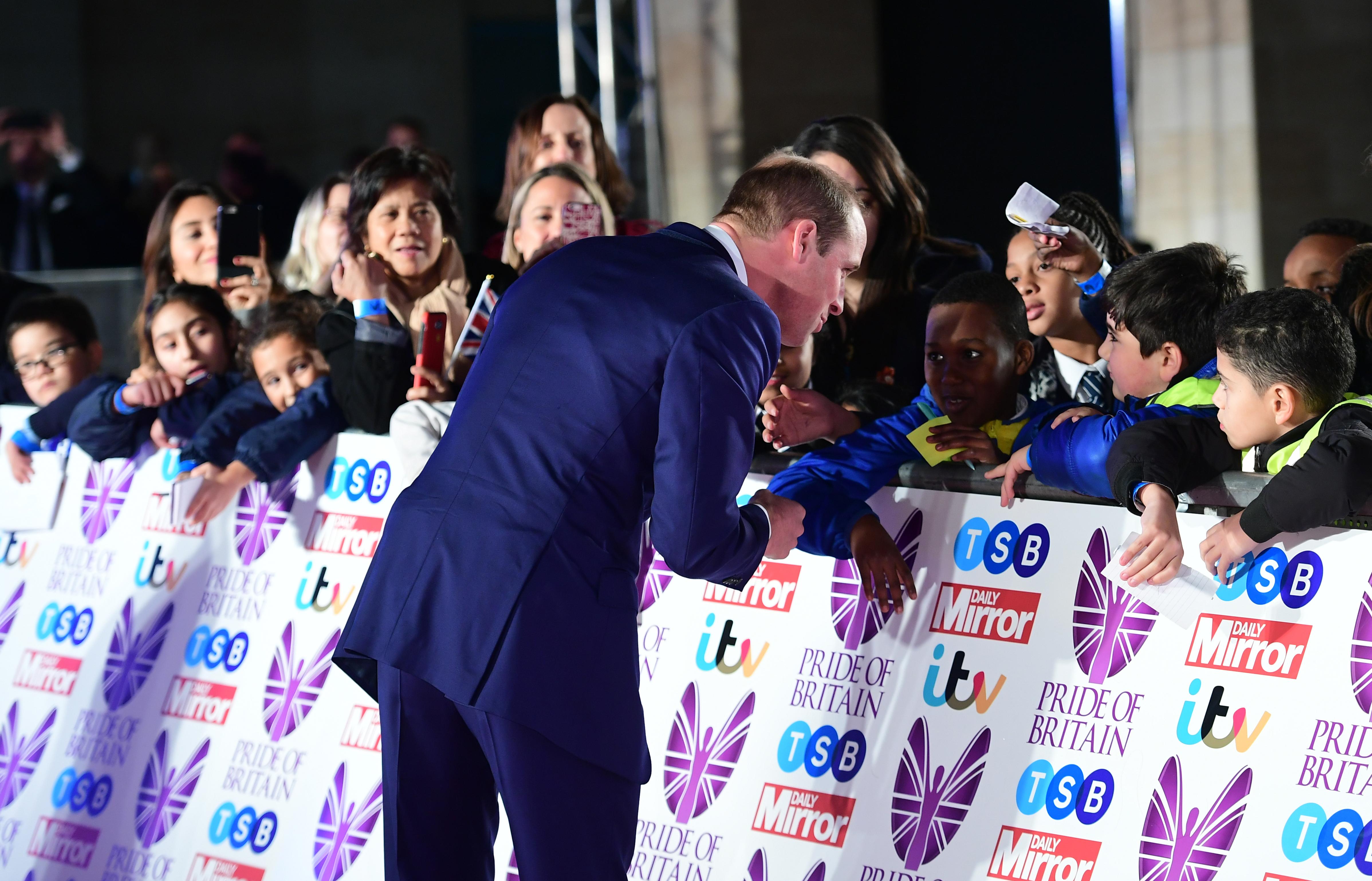 Prince William Pride Of Britain