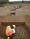 Archaeologists on site at Dachet