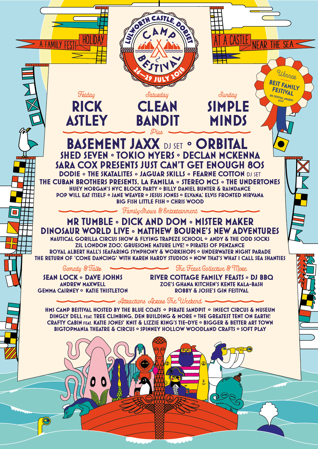 Camp Bestival 2018 Poster