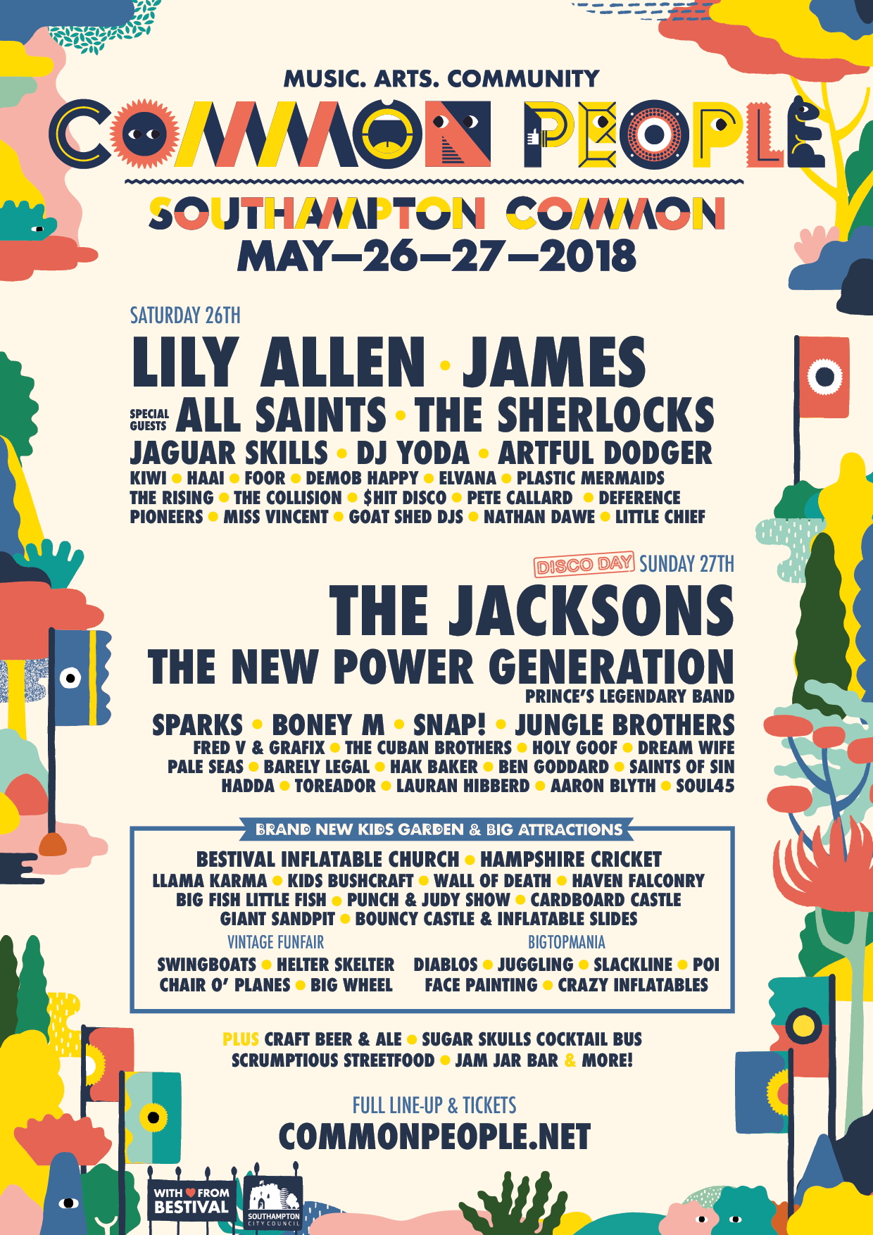 Common People Southampton 2018 Line Up