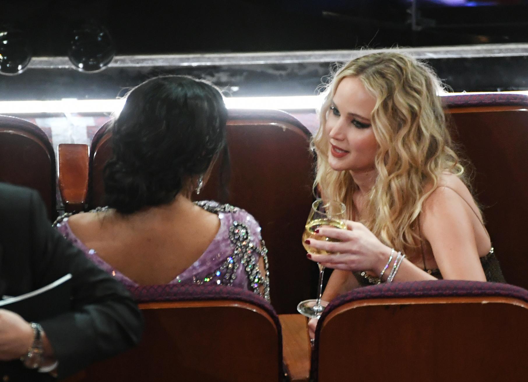 the Oscars - Jennifer Lawrence Drunk talk