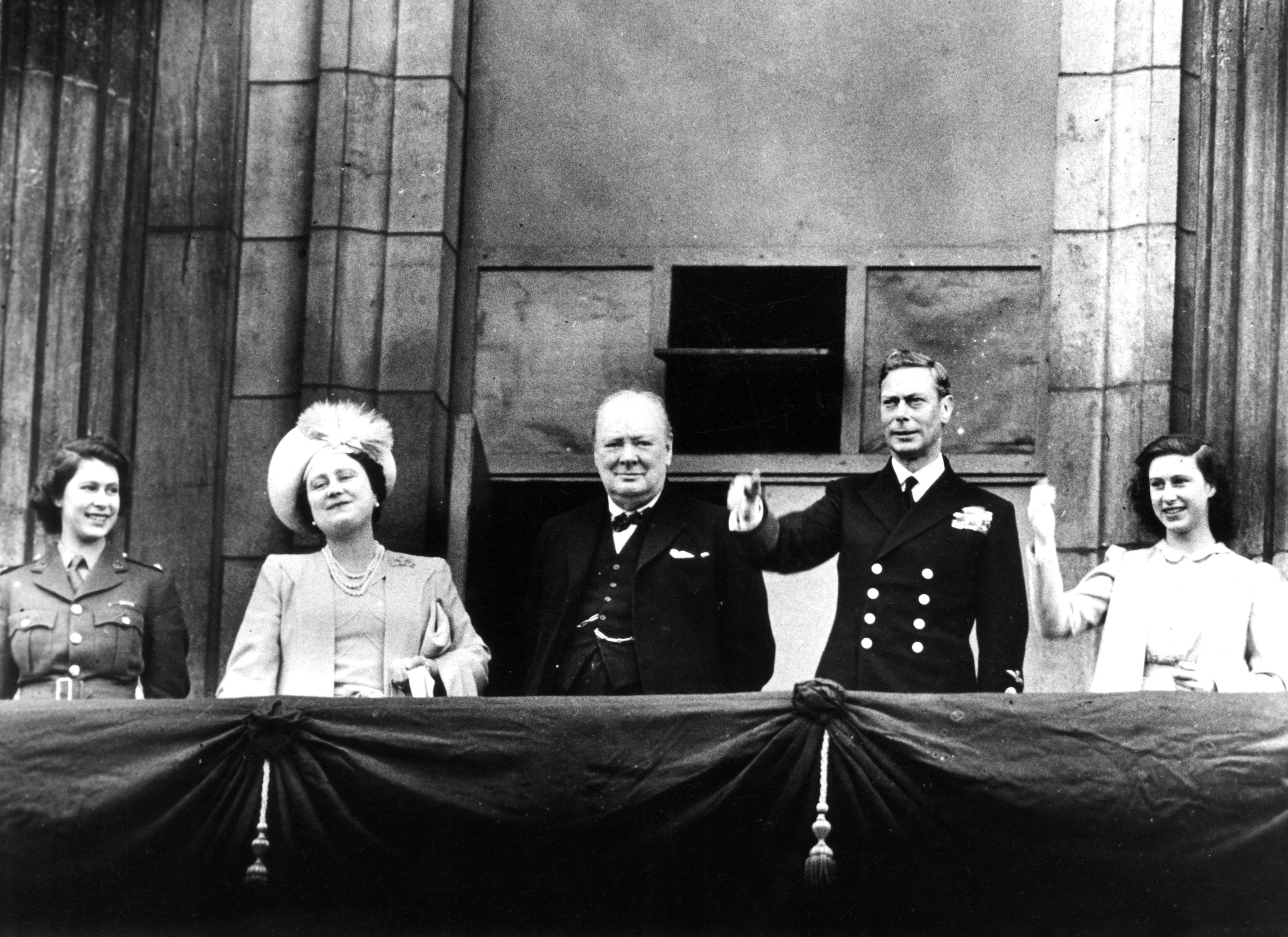 The Queen VE Day