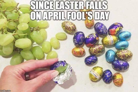 Easter/April Fools prank