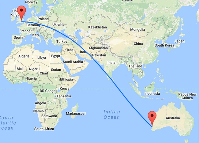 Heathrow to Perth