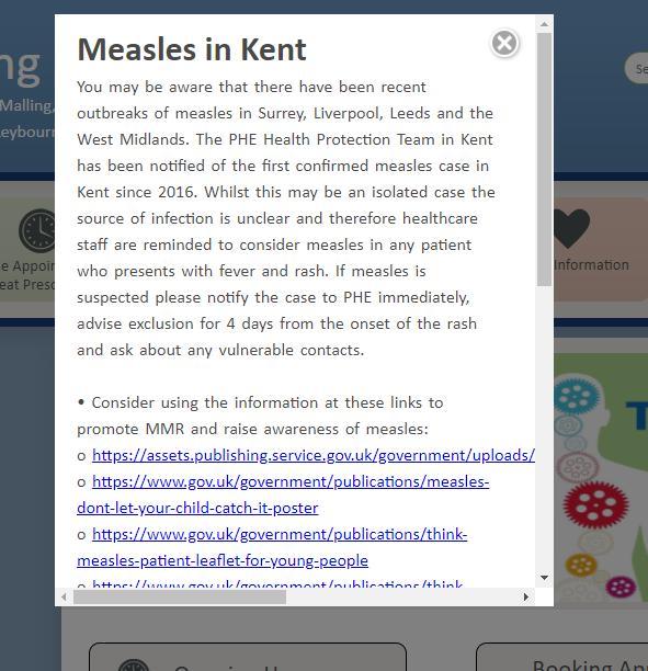 Measles warning