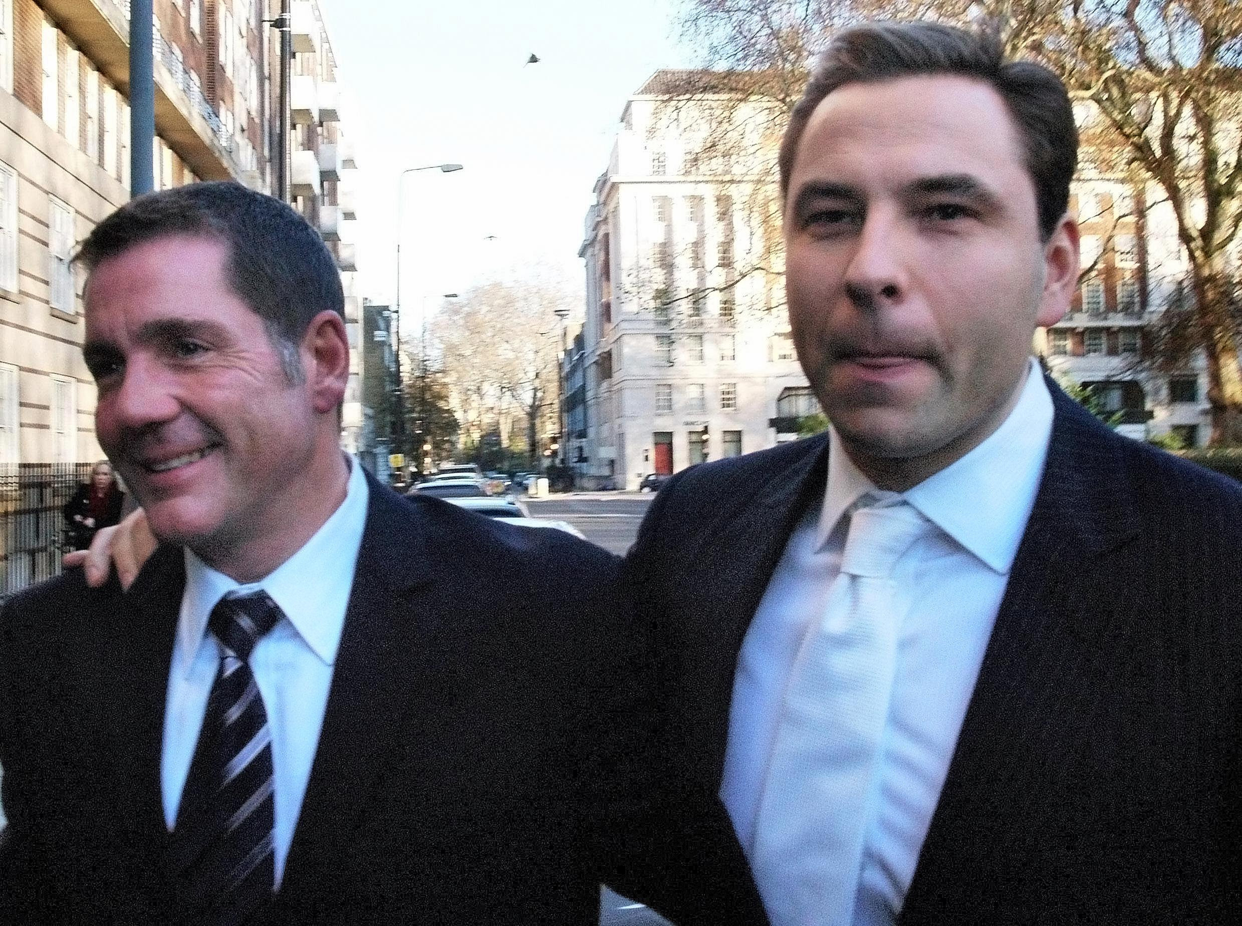 Dale Winton and David Walliams