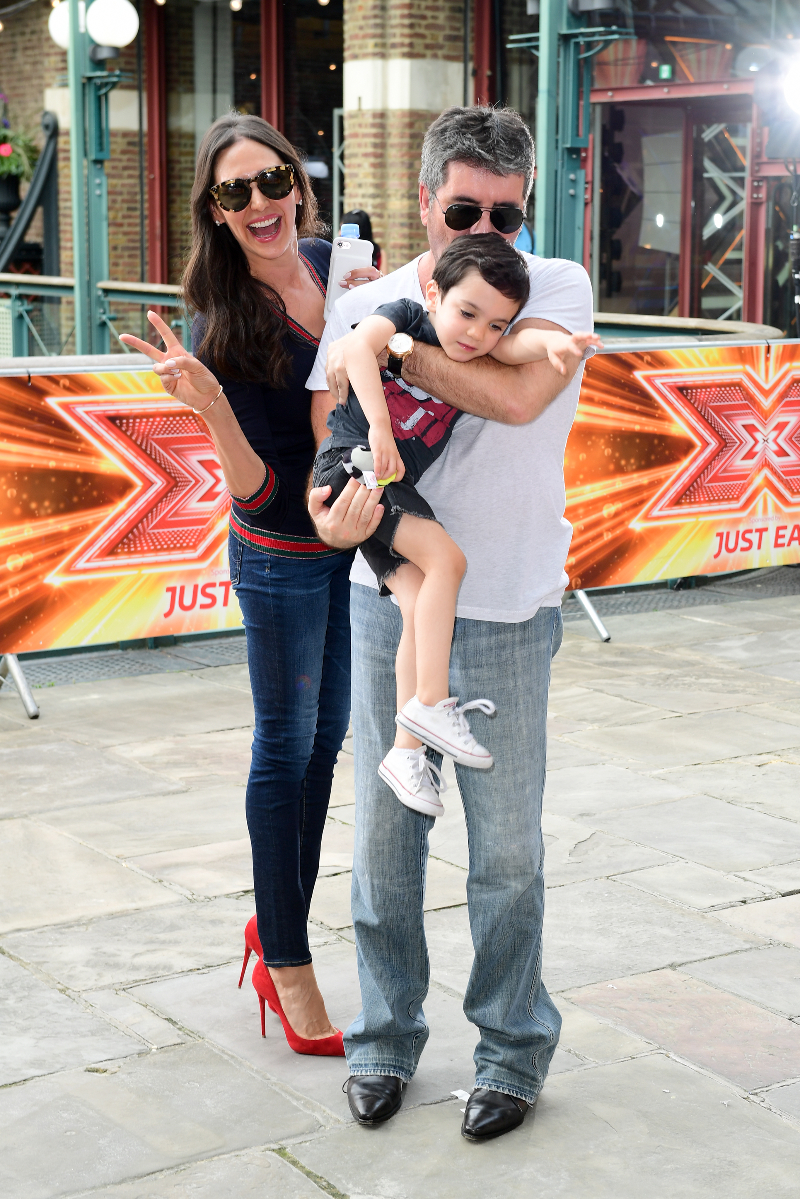 Simon Cowell, Lauren Silverman and son Eric