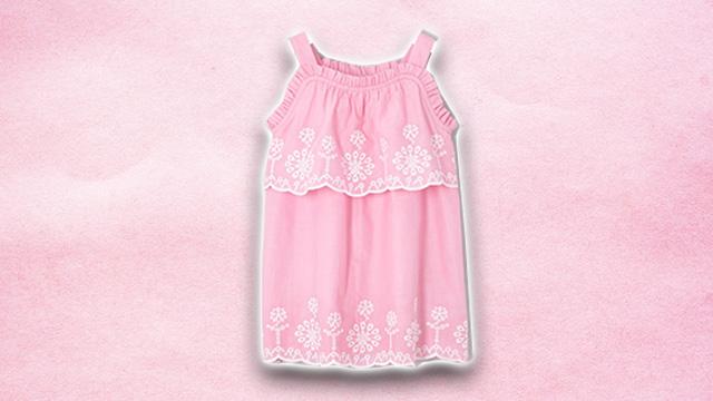 Pink kids summer dress 1