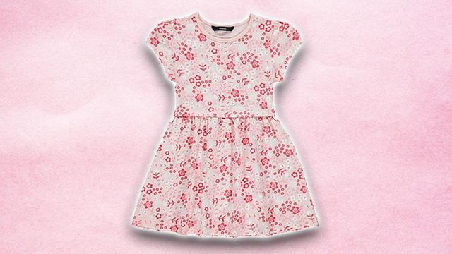 Pink kids summer dress