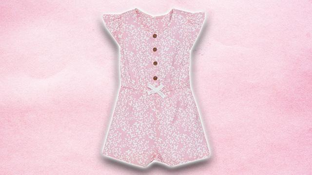 Pink kids summer dress 2