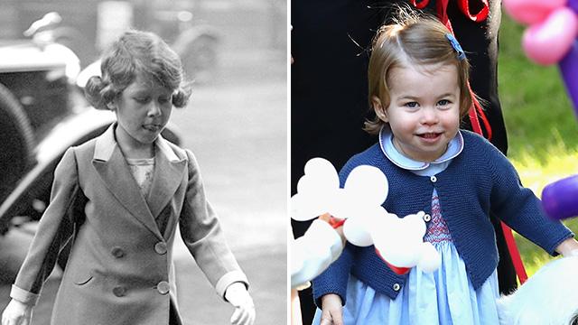 Queen Princess Charlotte hair