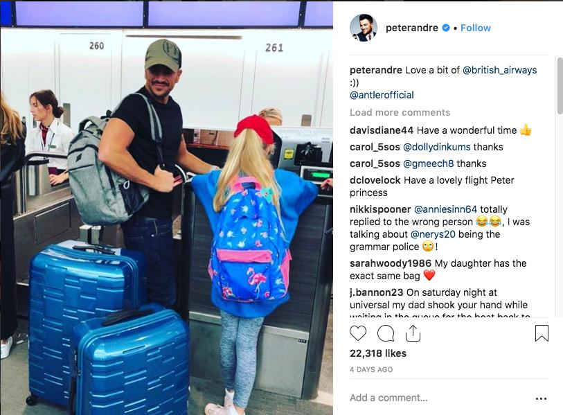 Peter Andre holiday