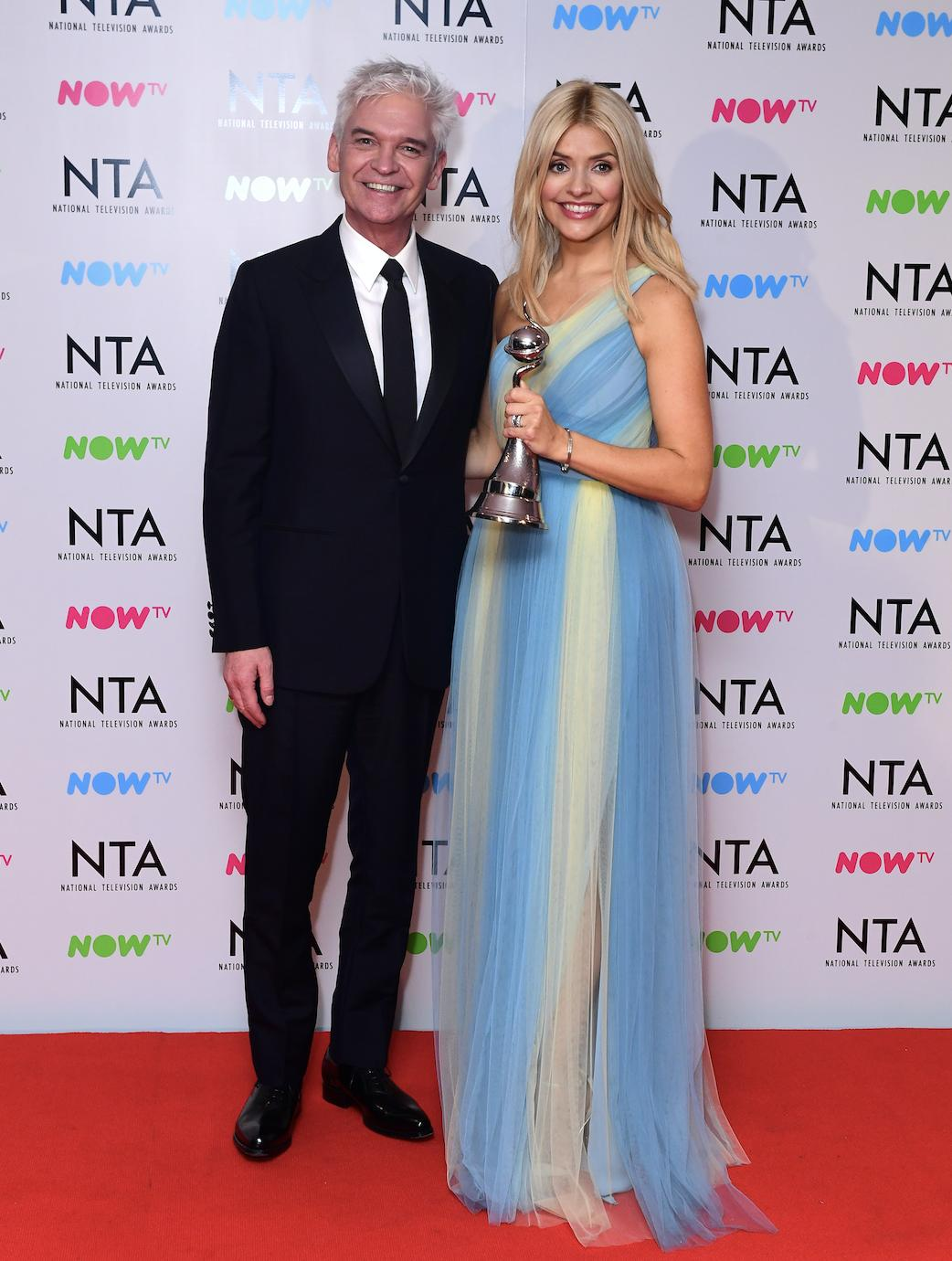 Phil and Holly at the NTA's