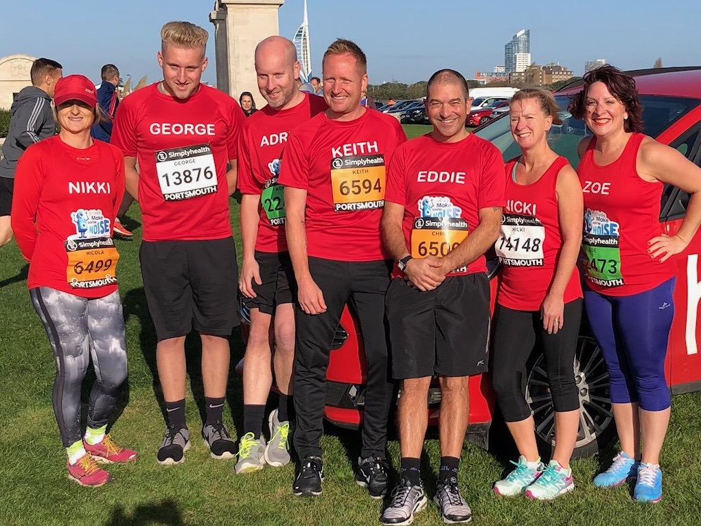 Team Heart at the Great South Run 2018