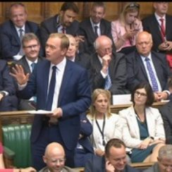 Tim Farron in Parliament