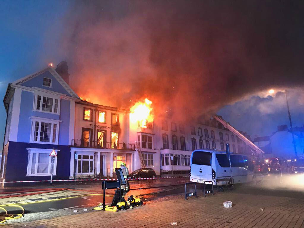 Belgrave House hotel fire