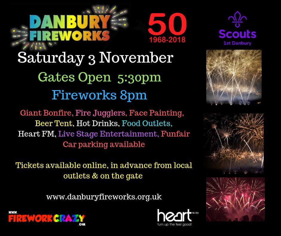Danbury Fireworks Poster