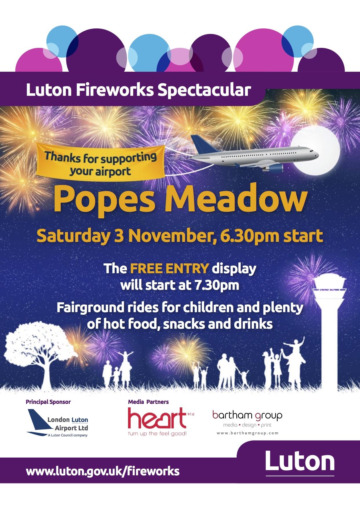 Luton Fireworks 2018 Poster