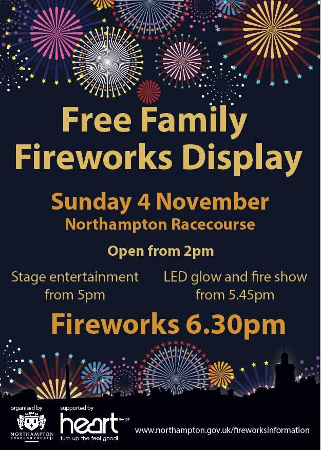Northampton Fireworks Poster 2018